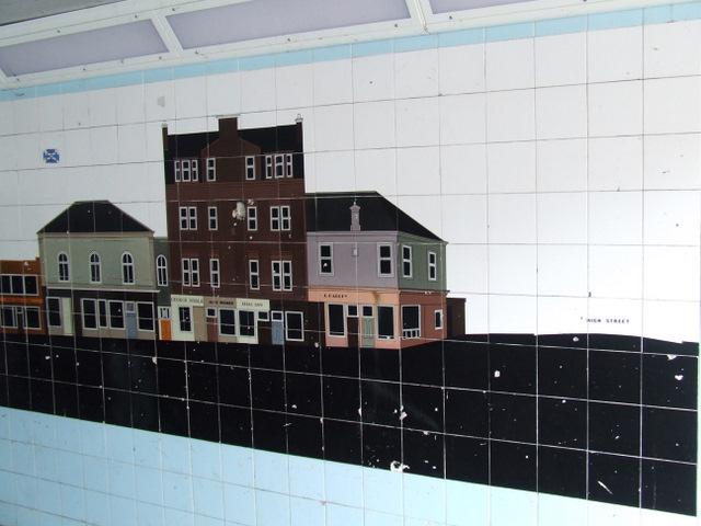 Tile mosaic in West Stewart Street underpass