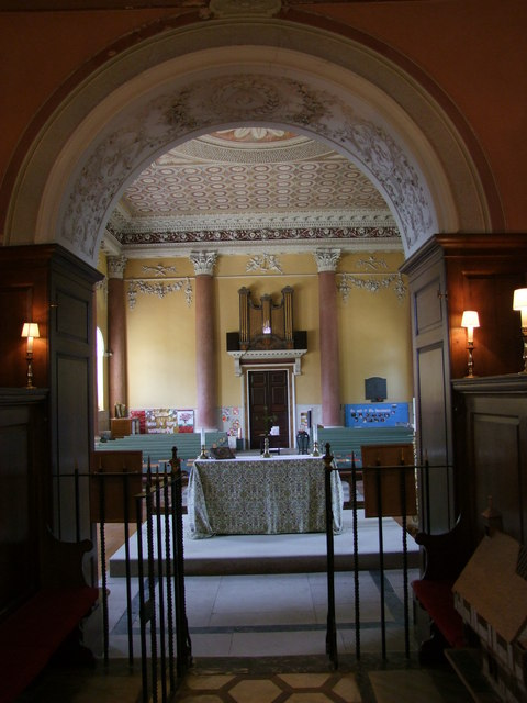 Interior of St Lawrence Church