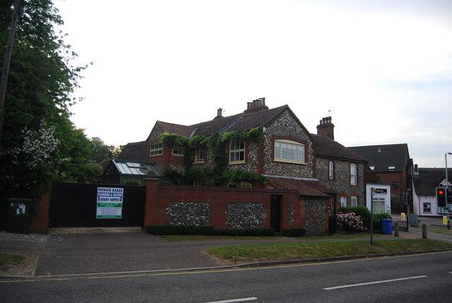 A flint built house, Eaton