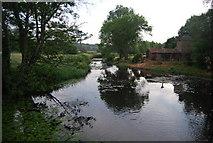 TG2105 : River Yare at Keswick Mill by N Chadwick