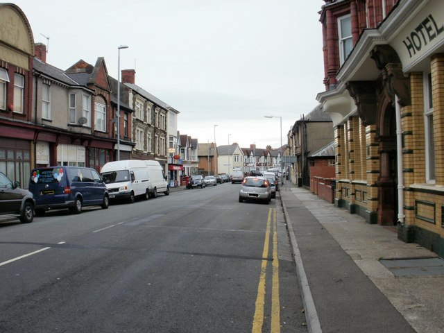 Southern end of Alexandra Road, Newport by Jaggery