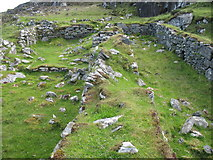NB1339 : Ruined Blackhouse near Bostadh, Great Bernera by David Purchase