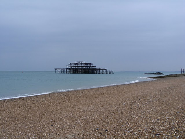 Remains of pier