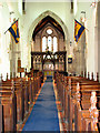 TF8411 : St Mary's church in Sporle - view east by Evelyn Simak