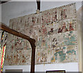 TF8411 : St Mary's church in Sporle - medieval wall painting by Evelyn Simak