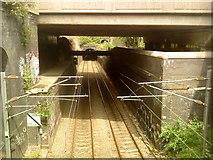 SP0685 : Railway towards Birmingham New Street from Five Ways by Andrew Abbott