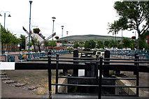 SJ9698 : Stalybridge:  Huddersfield Narrow Canal: Lock No 6W by Dr Neil Clifton