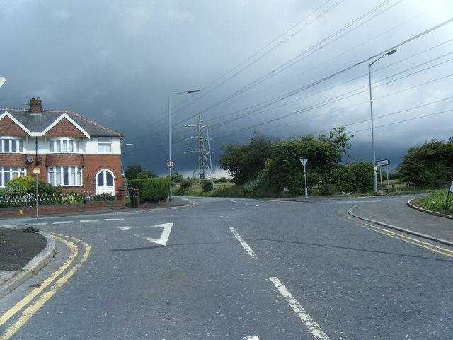Bradley Fold Road crosses Bury New Road