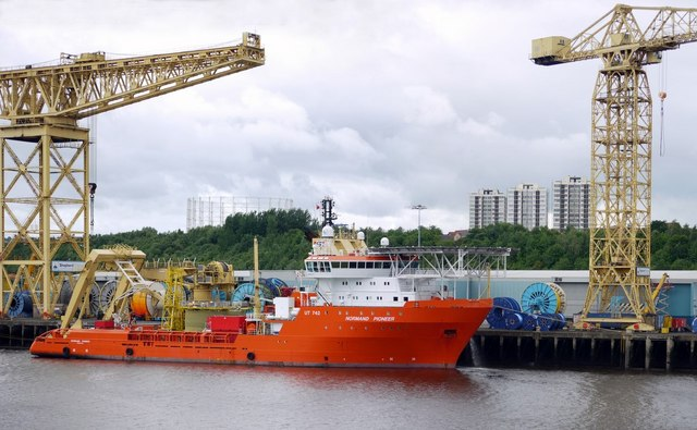 The 'Normand Pioneer' on the River Tyne