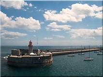 O2429 : The end of the East Pier at Dun Laoghaire by Eric Jones
