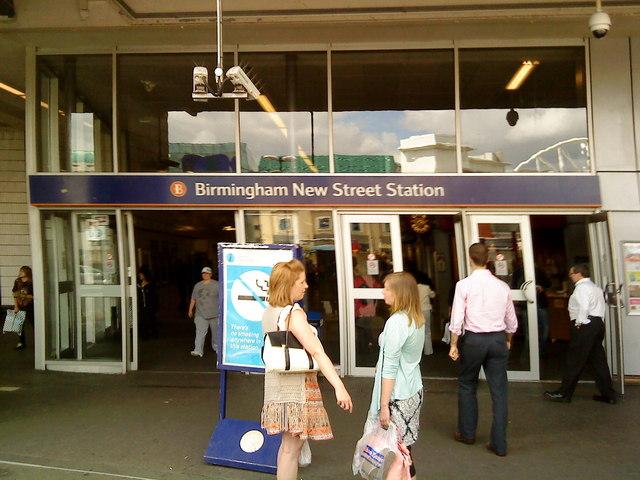 Birmingham New Street station entrance