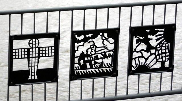 Cut steel panels, Jetty, Hebburn Riverside