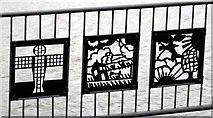 NZ3064 : Cut steel panels, Jetty, Hebburn Riverside by Andrew Curtis