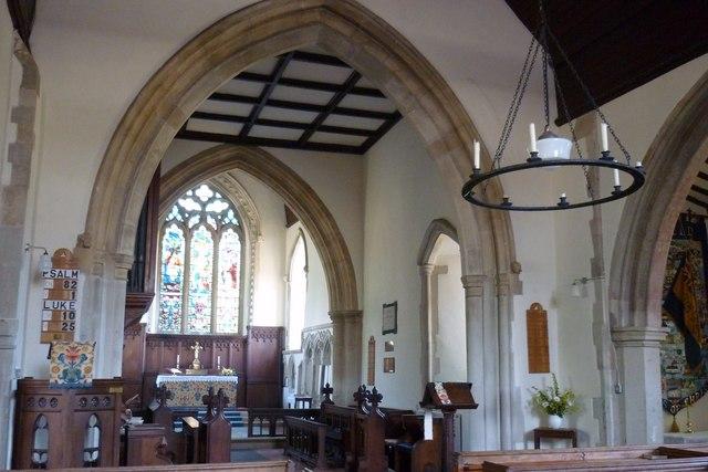St Nicholas Church, Fyfield, interior