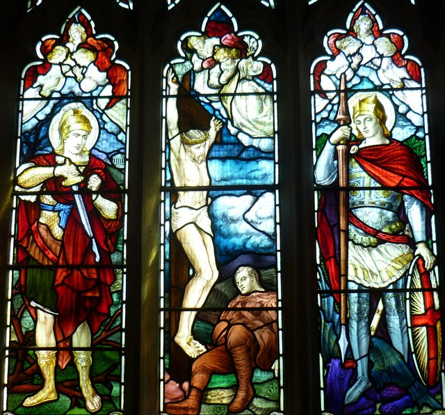 Stained glass window at Fyfield Church