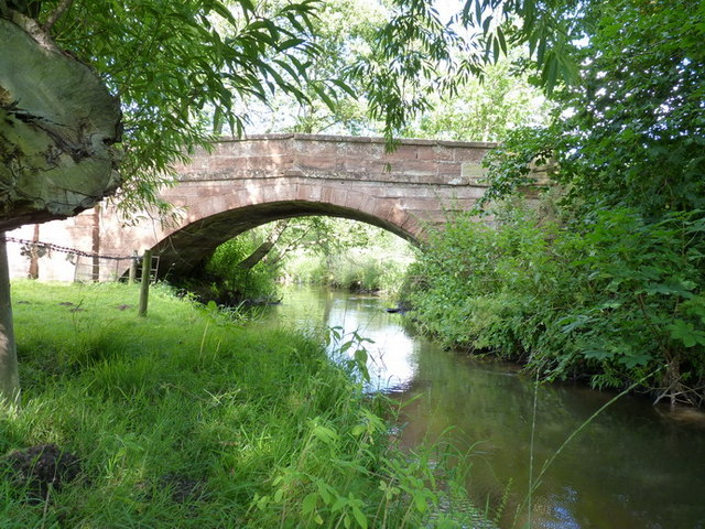 Stableford bridge from the riverbank