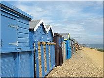 SZ2492 : Beach Huts, Barton On Sea by John Courtney