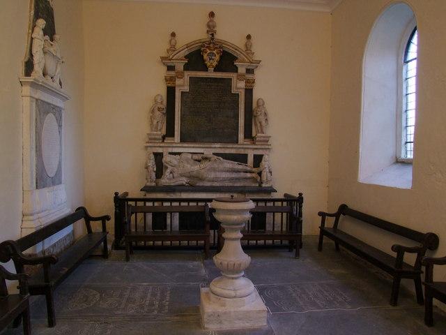 Wistow Church, interior of north transept
