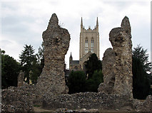 TL8564 : Bury St Edmunds: abbey and cathedral by John Sutton