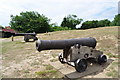 TM4249 : Orford Castle - Cannons by Ashley Dace