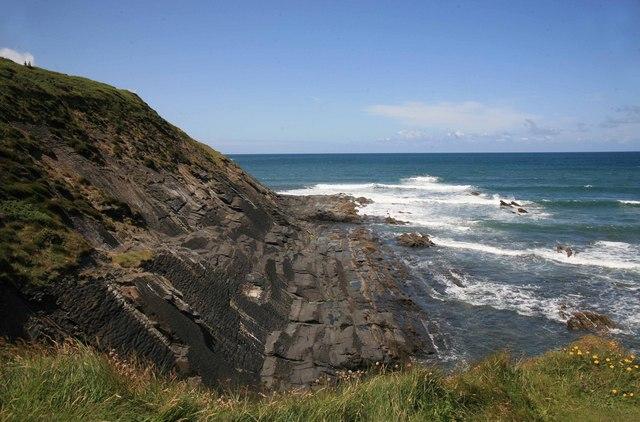 Crackington haven rocks and sea