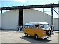 TM3652 : VW camper outside the Hush House, Bentwaters by John Goldsmith