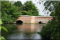 TG1910 : Bridge across the River Wensum, Hellesdon Mill by N Chadwick
