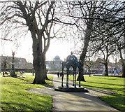 ST1774 : Samuel memorial, Grange Gardens, Cardiff by Jaggery