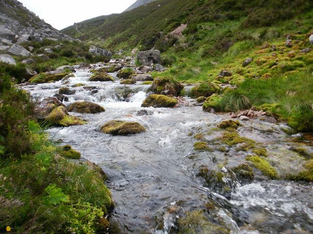 Stream in the Lairig Ghru