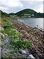 NR7387 : The shore at Carsaig Bay by Karl and Ali
