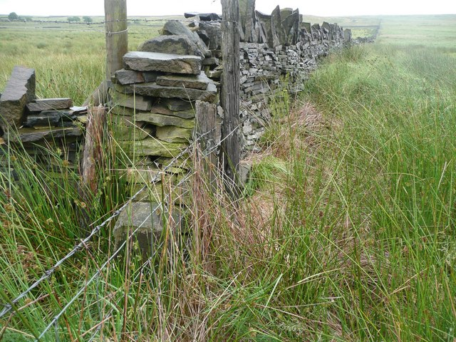 Boundary stone and wall