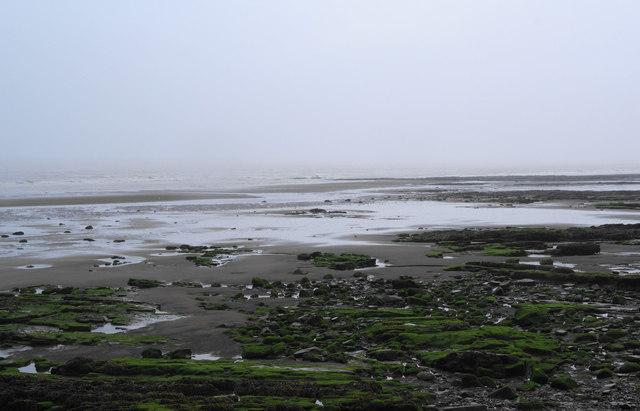 Maryport beach at low tide by Bill Boaden