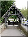 NZ1665 : Rear of  lytch gate, Church of St. Michael and All Angels, Newburn by Andrew Curtis