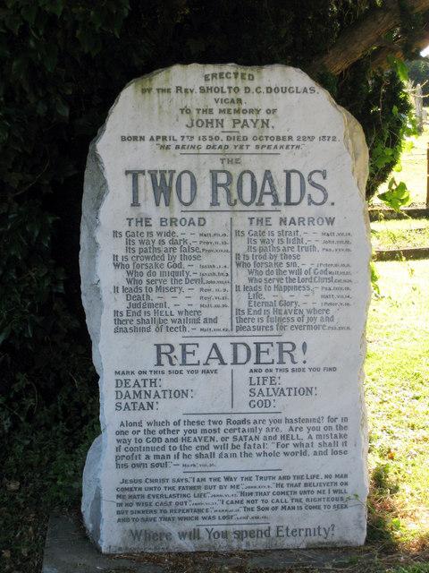 Memorial Headstone at St Peter's Church