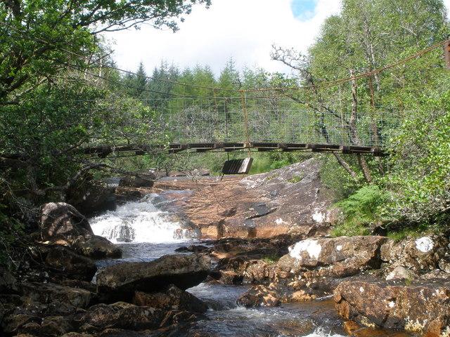 Suspension bridge over the Abhainn Dalach