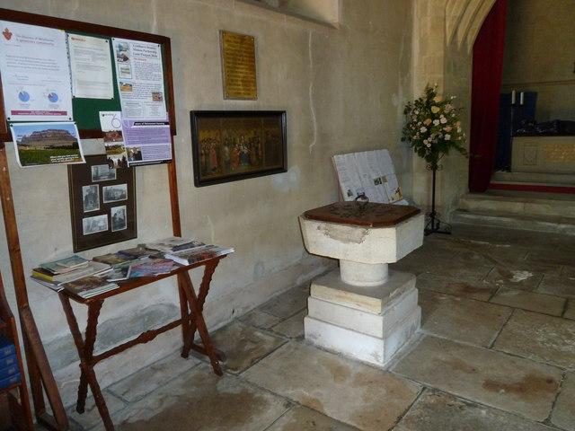 St Katherine, Exbury- font by Basher Eyre