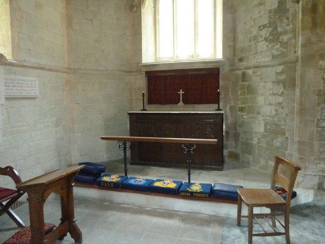 St Katherine, Exbury- side altar by Basher Eyre