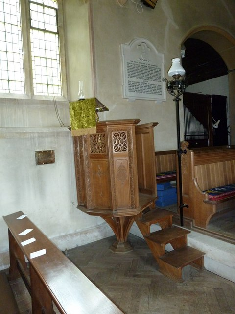 St Katherine, Exbury- pulpit by Basher Eyre