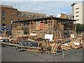 TQ3279 : The Jellyfish Theatre under construction by Stephen Craven