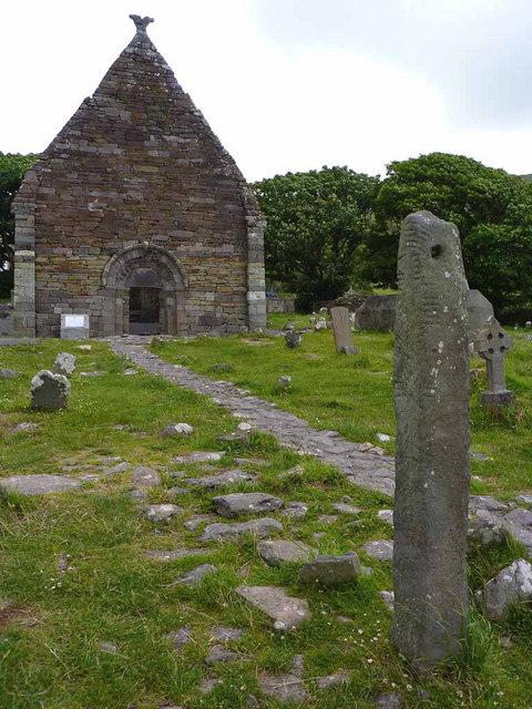 Ogham Stone at Kilmalkedar Church