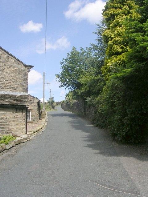 Sweep Lane - viewed from Underbank Old Road