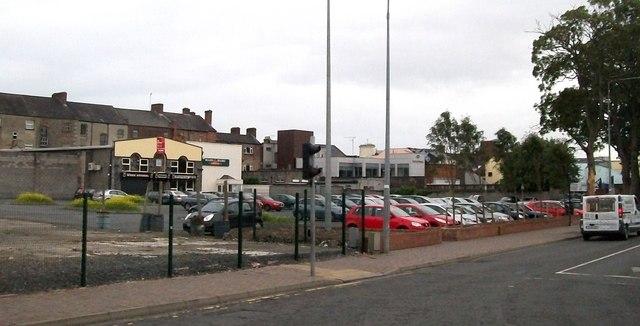 Car park opposite the Bus Eireann Depot in The Long Walk