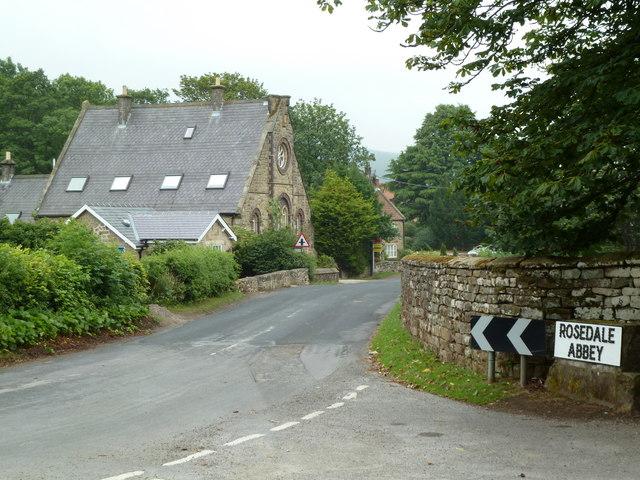 Rosedale Abbey - village boundary
