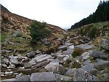 J3629 : Water bourne granite blocks on the floor of the Glen River Valley by Eric Jones