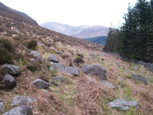 Path westwards towards the Glen River