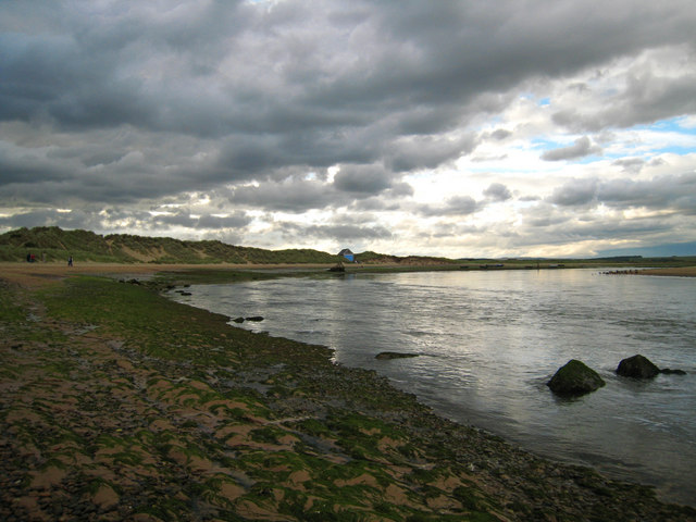 Newburgh: an evening storm brews over the Ythan estuary