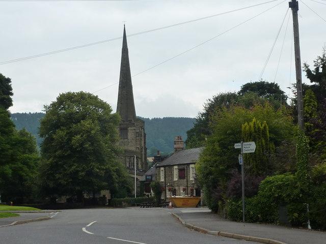 Church, Pub and skip