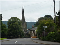 SK3463 : Church, Pub and skip by Peter Barr