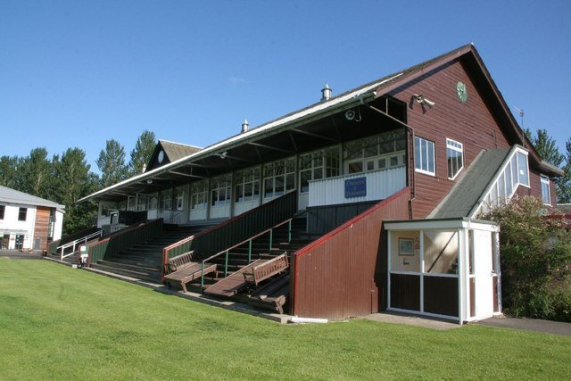 View along the grandstand