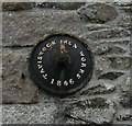 SX4874 : Tavistock, iron boss by Mike Faherty